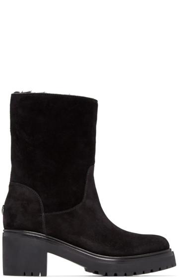 Moncler - Black Suede Cassandre Boots