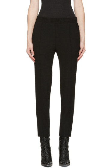 Haider Ackermann - Black Smocked Waistband Trousers
