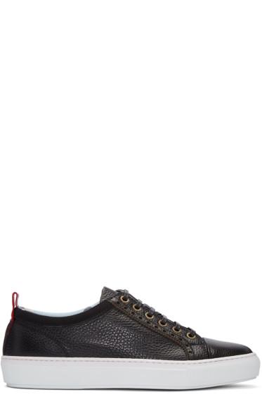Moncler Gamme Bleu - Black Leather Sneakers