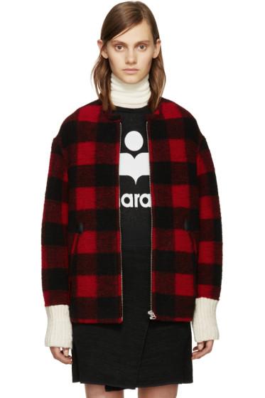 Isabel Marant Etoile - Black & Red Fimo Jacket