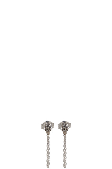 Pearls Before Swine - SSENSE Exclusive Silver Chain Liminal Earrings