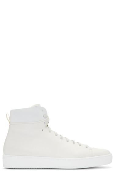 John Elliott - Off-White Leather High-Top Sneakers