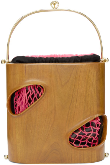 Prim by Michelle Elie - Brown Wood E1027 Bag