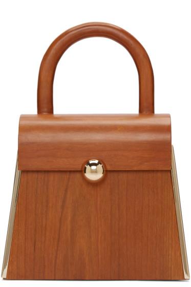 Prim by Michelle Elie - Brown Wood Aturo Bag