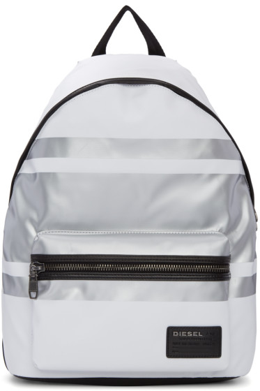 Diesel - White & Silver Iron Backpack