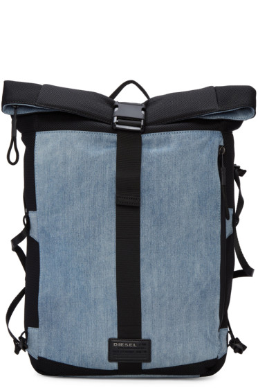 Diesel - Blue D-Running Roll Backpack