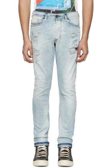 Diesel - Blue Destroyed Tepphar Jeans