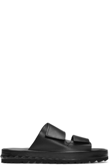 Diesel - Black D-Studzy Sandals