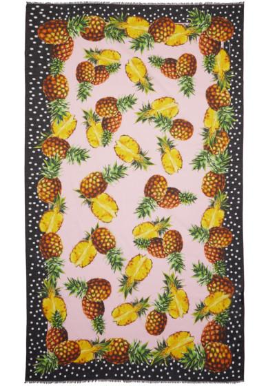 Dolce & Gabbana - Pink Pineapple Scarf