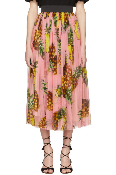 Dolce & Gabbana - Pink Pineapple Skirt