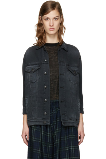 R13 - Black Denim Trucker Jacket
