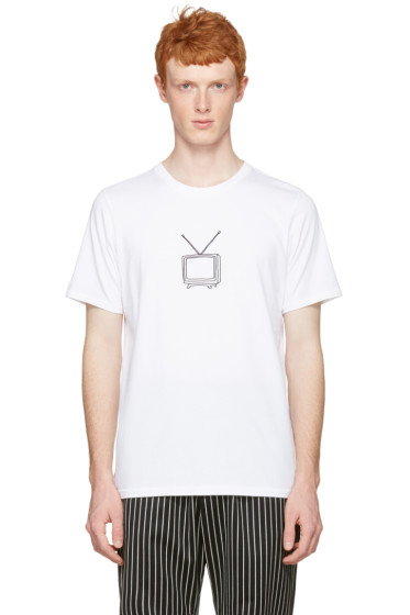 Rag & Bone - White T.V. Embroidery T-Shirt