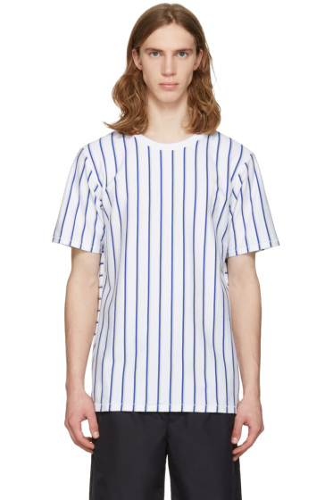 Rag & Bone - White Disrupted Stripe T-Shirt