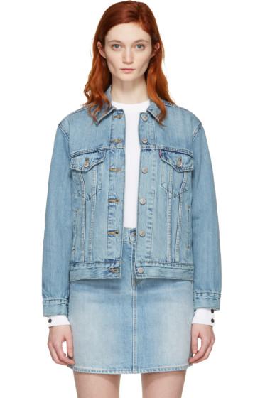 Levi's - Blue Denim Ex-Boyfriend Trucker Jacket