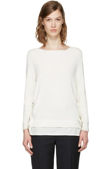 Moncler - ホワイト ダブル レイヤー セーター