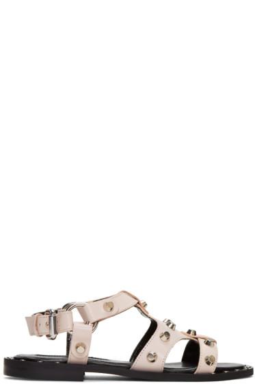 McQ Alexander McQueen - Pink Solenie Gladiator Sandals