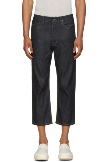 Rick Owens Drkshdw - Blue Cropped Torrence Jeans