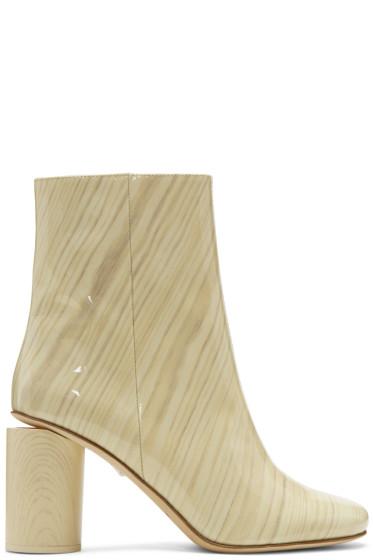 Acne Studios - Ivory Patent Allis Boots