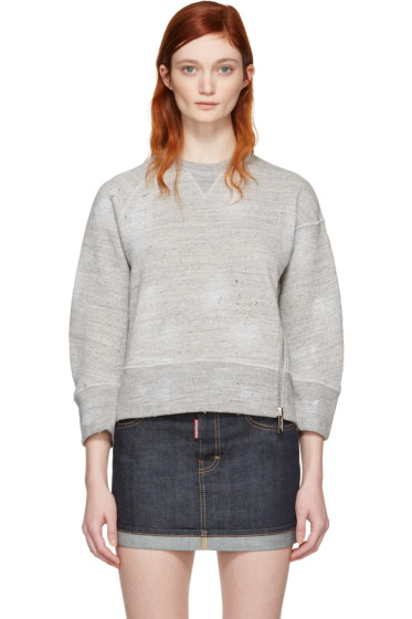 Dsquared2 - Grey Cropped Zip Pullover