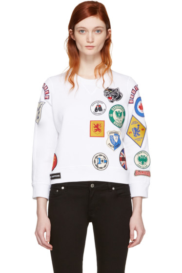 Dsquared2 - White Multi Patches Pullover