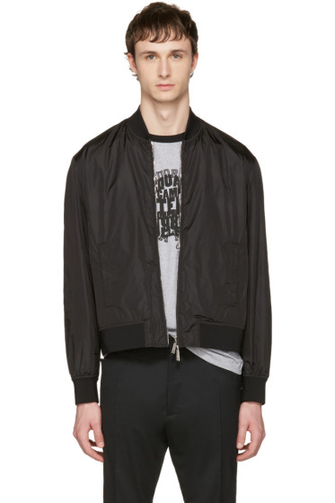 Dsquared2 - Black Nylon Bomber Jacket