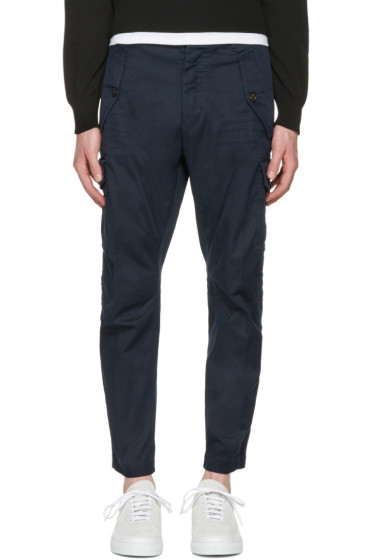 Dsquared2 - Navy Twill Cargo Trousers