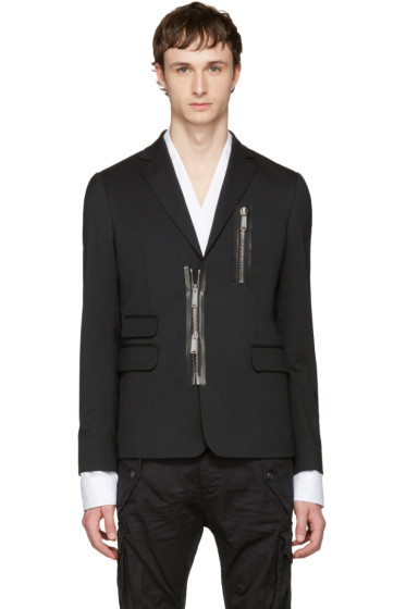 Dsquared2 - Black Zipped Blazer