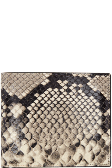 Maison Margiela - Taupe Snake-Embossed Wallet