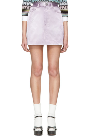 Marc Jacobs - パープル サテン ミニスカート