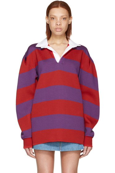 Marc Jacobs - Red & Purple Rugby Polo