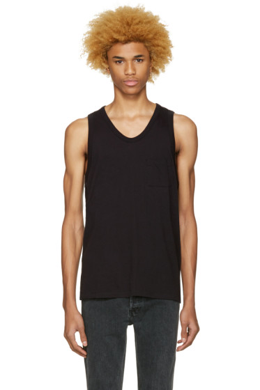 T by Alexander Wang - Black Pocket Tank Top