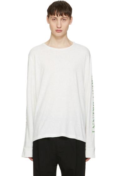 Robert Geller - White Print T-Shirt