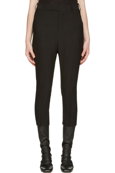 Rick Owens - Black Classic Cropped Trousers