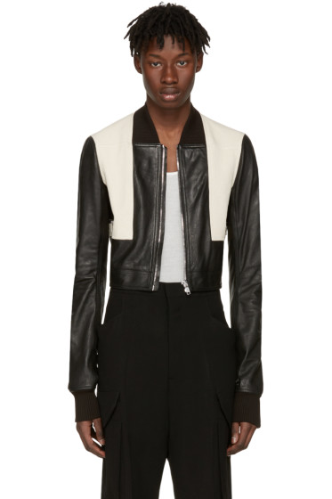 Rick Owens - Black Geo Harness Bomber Jacket