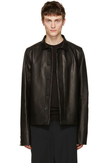 Rick Owens - Black Leather Brotherhood Jacket