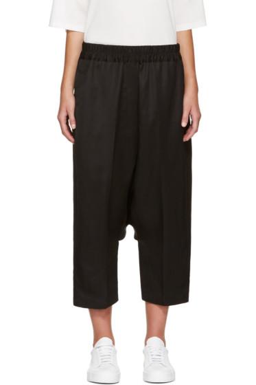Jil Sander - Black Dropped Trousers