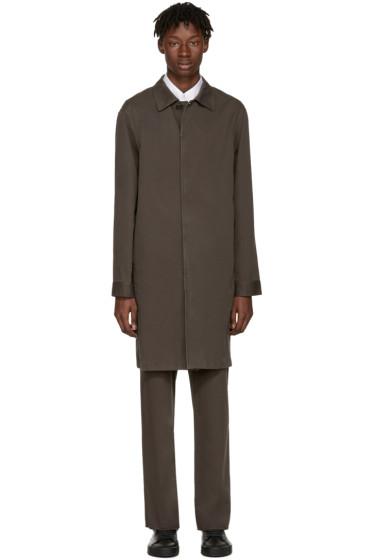 Jil Sander - Brown Madras Coat