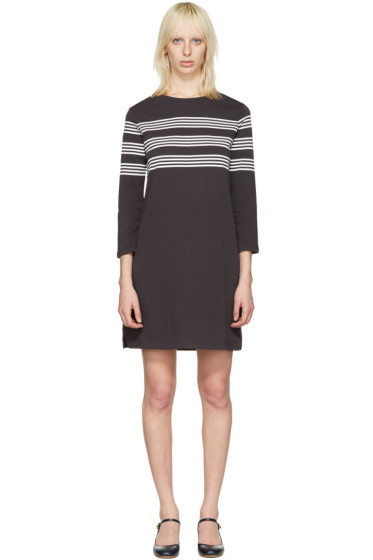 A.P.C. - Black Striped Esther Dress