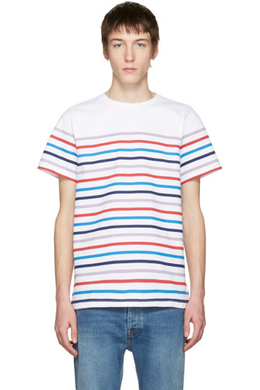 A.P.C. - White Striped Regular T-Shirt