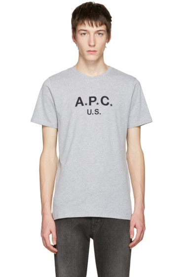 A.P.C. - Grey Logo T-Shirt