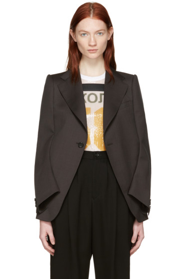 Junya Watanabe - Brown Tropical Blazer Cape