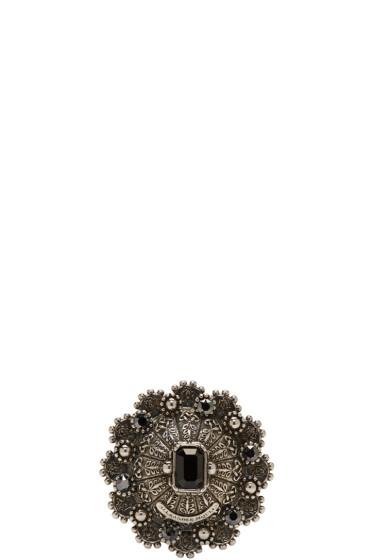 Alexander McQueen - Silver Hematite Ring