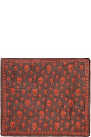 Alexander McQueen - Red Skull Scarf