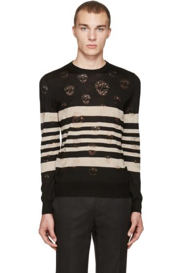 Alexander McQueen - Black Stripes & Skulls Pullover