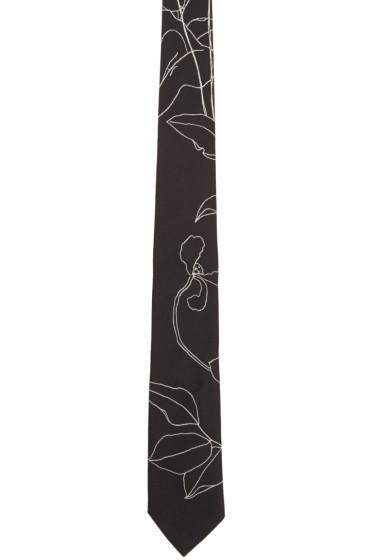 Paul Smith - Black Botanical Tie