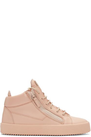 Giuseppe Zanotti - Pink Mid-Top London Sneakers