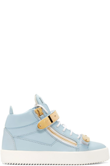 Giuseppe Zanotti - SSENSE Exclusive Blue London High-Top Sneakers