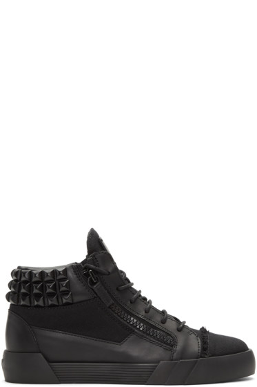 Giuseppe Zanotti - Black Foxy London Mid-Top Sneakers