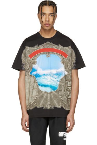 Givenchy - Black Waves T-Shirt