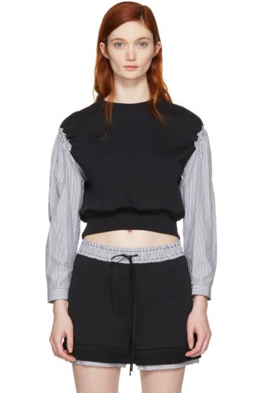 3.1 Phillip Lim - Black Poplin Sleeves Pullover